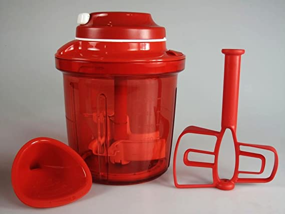 Tupperware Chef Extra-Chef D200 - Picador de Alimentos Rojo, 1,35 l: Amazon.es: Hogar
