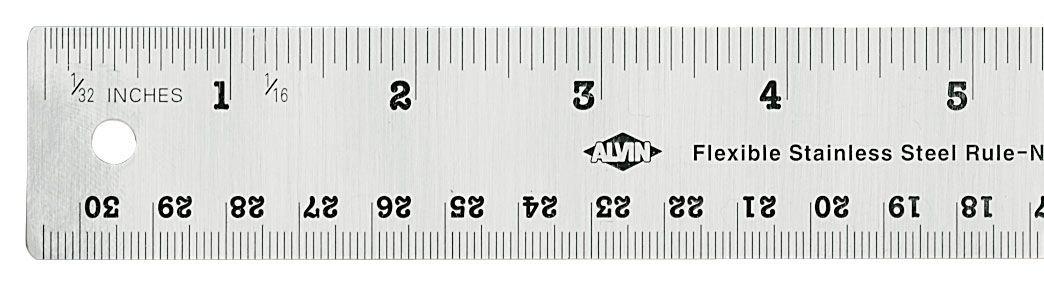 Alvin R590-6 6 inch Flexible Stainless Steel Ruler National Cellular