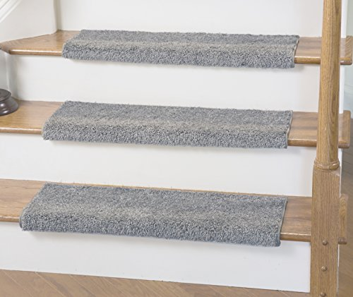 Caprice Bullnose Carpet Stair Tread with Adhesive Padding, by Tread Comfort (Single 31