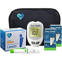 Easy Touch Diabetes Testing Kit, 100 Count   Easy Touch Meter, 100 Easy Touch Blood Glucose Test Strips, 100 Lancets, Easy Touch Lancing Device, Owner's Manual, Log Book & Carry Case