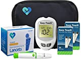 O'WELL Diabetes Testing Kit, 100 Count | Easy Touch Meter, 100 Easy Touch Blood Glucose Test Strips, 100 Lancets, Lancing Device, Control Solution, Owner's Manual, Log Book & Carry Case