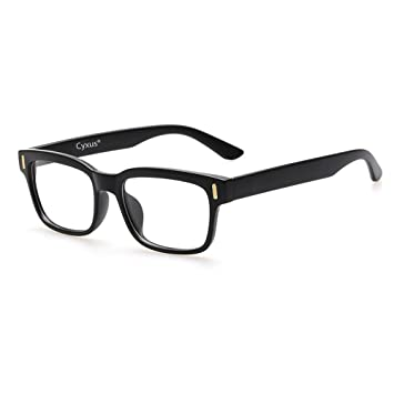 3188c8e41e Cyxus Blue Light Blocking Computer Glasses for Anti Eye Strain UV  Transparent Lens Black Frame Reading
