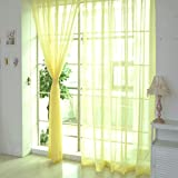Lavany 1 PCS Pure Color Tulle Door Window Curtain Drape Panel Sheer Scarf Valances,106x39 inch (E)