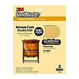 3M Sandblaster Between Coats Sandpaper, 320-Grit, 9-Inch by 11-Inch