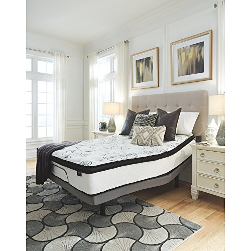 Ashley Furniture Signature Design - 12 Inch Chime Express Hybrid Innerspring - Firm Mattress - Bed in a Box - Queen - White