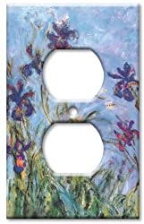 Art Plates - Monet: Irises Switch Plate - Outlet Cover