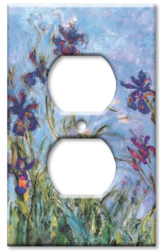 Electric Flower (Art Plates - Monet: Irises Switch Plate - Outlet Cover)