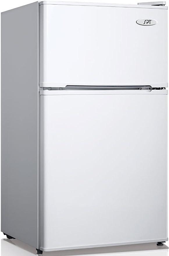 Stainless Steel SPT RF-314SS Double Door Refrigerator 3.1 Cubic ...