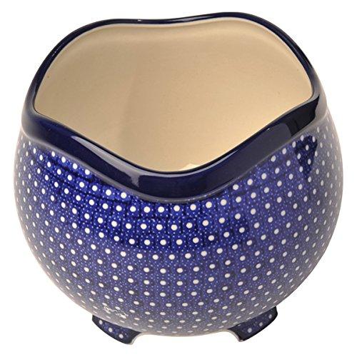 Ceramika Artystyczna(セラミカ) カミーノ フラワーアレンジボウル (包装済み/ブルーブラウン)(W162) B07KYM4SRN (包装済み/ブルーブラウン)