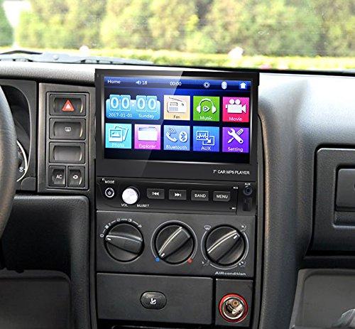FEELDO 7inch 1DIN In-dash Manumotive Ultra Slim WinCE Car Bluetooth Radio USB 1080P MP5 Super Player by FEELDO (Image #4)