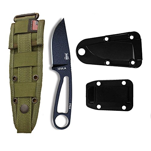 ESEE-Izula-Black-w-Black-Molded-Sheath-Clip-Plate-and-OD-Green-Molle-Back-Combo