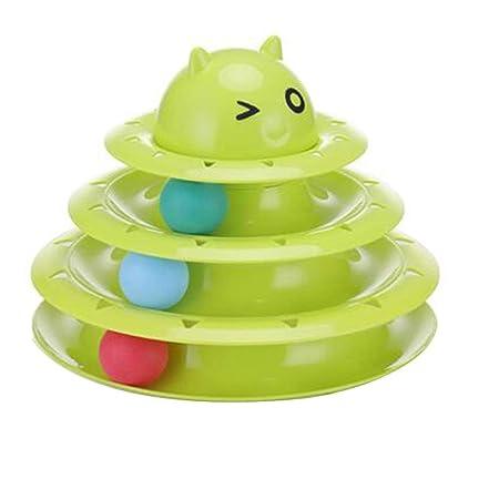 Tree-on-Life Cat Carrusel de Juguetes de Tres Capas Pista de Tenis ...