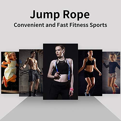 Jump Rope - Soft Beaded Segment Skipping Rope - Adjustable for Men, Women and Kids Tangle-Free Jumping Rope for Workout, Exercise, Keeping Fit, Training and Weight Loss 6
