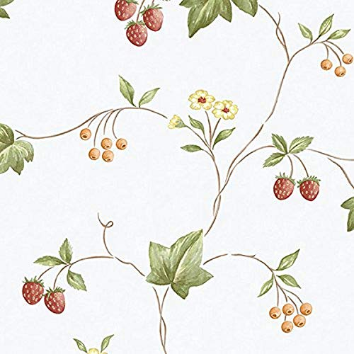 Norwall NWKK26752 Franklin Floral Trail Textured Wallpaper, Red