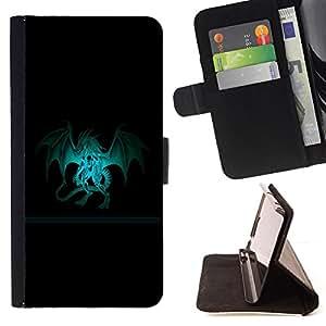 - Dragon Crest - - Prima caja de la PU billetera de cuero con ranuras para tarjetas, efectivo desmontable correa para l Funny HouseFOR Samsung Galaxy S3 Mini I8190Samsung Galaxy S3 Mini I8190