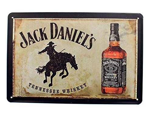 - K&H Jack Daniels Whiskey Retro Metal Tin Sign Posters Café Bar Diner Pub Restaurant Wall Decor 12X8-Inch