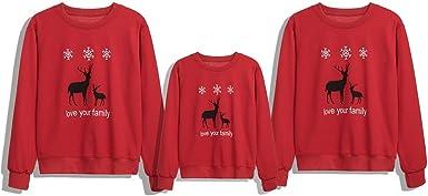Sudaderas Mujer Baratas Navidad Unicornio Pijamas Familiares Iguales Impresion De Reno Navidad Pijama Unisex Hombres Talla Grande Creativo Ropa Rojo Amazon Es Ropa Y Accesorios