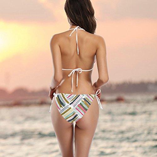 o Alaza traje de de piezas de con Bikini dos un mujer ba multicolor Rqp8Fwxw