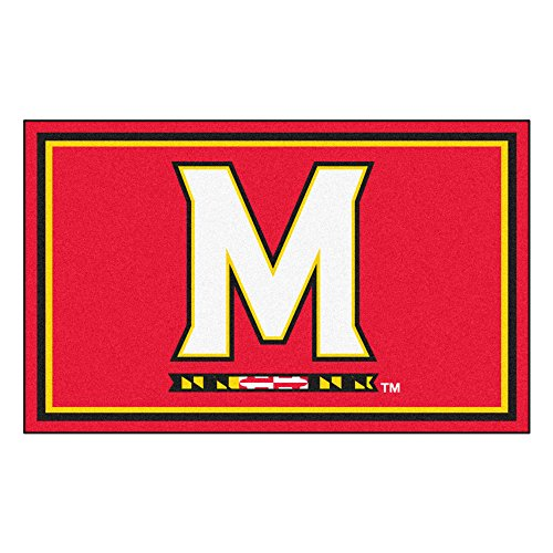 FANMATS NCAA University of Maryland Terrapins Nylon Face 4X6 Plush Rug by Fanmats