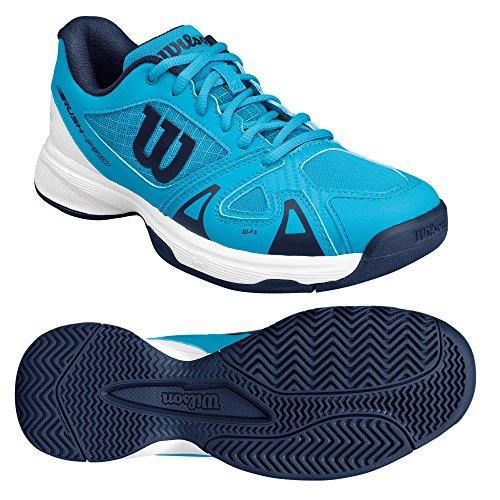 Wilson Wrs322480e040, Chaussures de Tennis Enfants Unisex, Bleu (Hawaiian Ocean / White / Navy), 37 EU