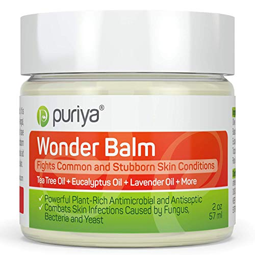 Puriya Tea Tree Oil Balm. Apply on feet, Nails, Groin, Chest. - Award Winning - Trusted by 200K Users - Forms a Skin Defense Layer in Humid Conditions. Use It Before and After Gym, Yoga, Pool, Sauna (Best Over The Counter Steroid Cream)