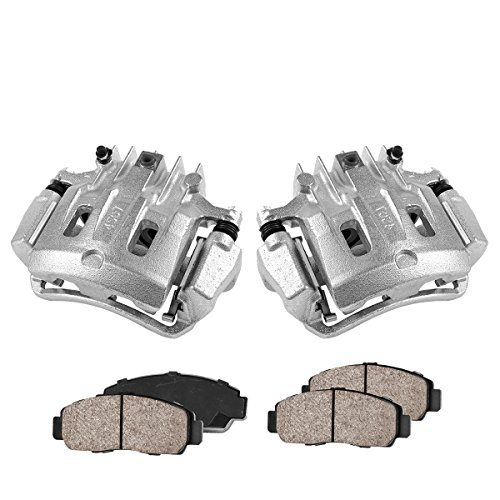 Brake Caliper Package - COEK00468 [2] REAR Premium Loaded OE Caliper Assembly Set + Quiet Low Dust Ceramic Brake Pads