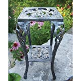Oakland Living Hummingbird Table Plant Stand, Antique Pewter