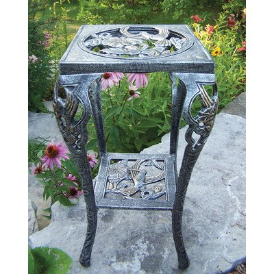 (Oakland Living Hummingbird Table Plant Stand, Antique Pewter)