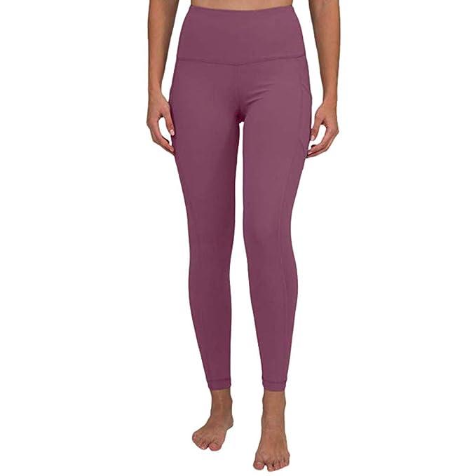 Ansenesna Yoga Leggins Damen Schwarz Mit Seitentasche Stretch Elegant Jogginghose Frauen High Waist Spitze Sport Fitness Hose