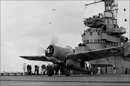 24x36 Poster . Navy Grumman F4F-4 Wildcat Uss Ranger (Cv-4) (F4f 4 Wildcat)
