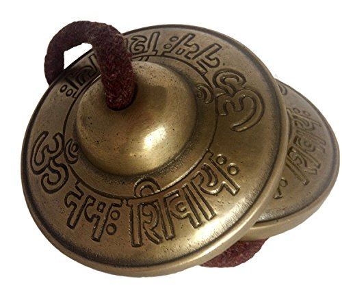 Om Nama Shiva Tingsha Cymbals 2.5 inch diameter