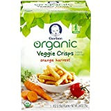 Gerber Graduates Organic Veggie Crisps, Orange, 5 Count...