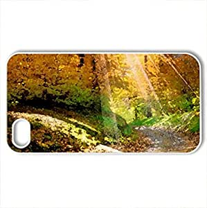 Autumn - Case Cover for iPhone 4 and 4s (Forests Series, Watercolor style, White)