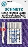 Euro-Notions Quick Self Threading Machine Needles, Size 12/80, 5/pkg