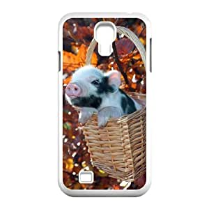 Cool PaintingFashion Cell phone case Of Cute Pig Bumper Plastic Hard Case For Samsung Galaxy S4 i9500