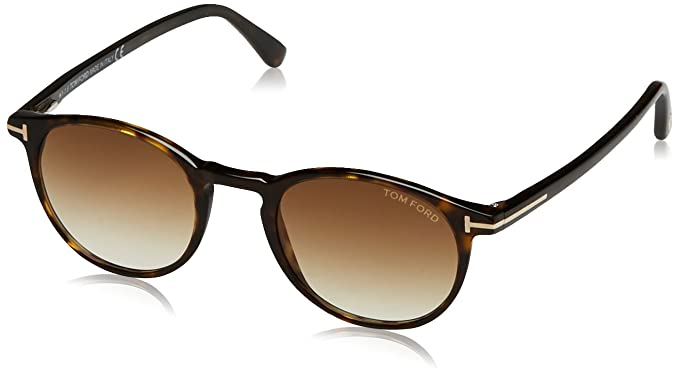 312c7ee4980 Image Unavailable. Image not available for. Color  Tom Ford FT0539 52F  Havana FT0539 Round Sunglasses ...