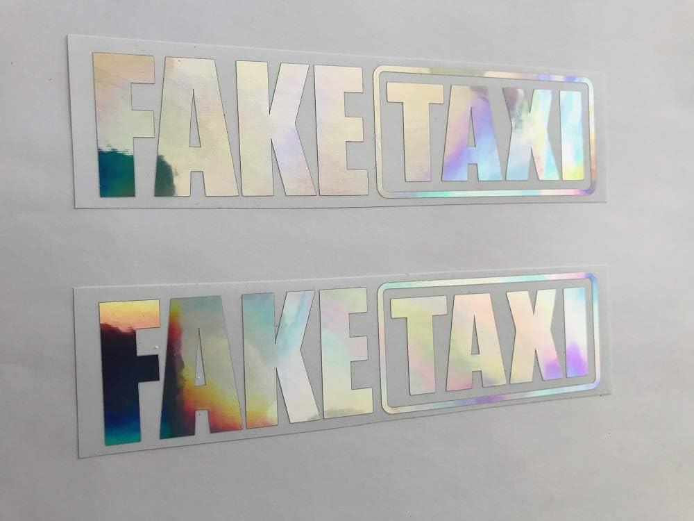 Sch/önheits Shop Set di 2 Adesivi per Auto con Scritta in Lingua Tedesca Fake Taxi Farbwechsel Hologram