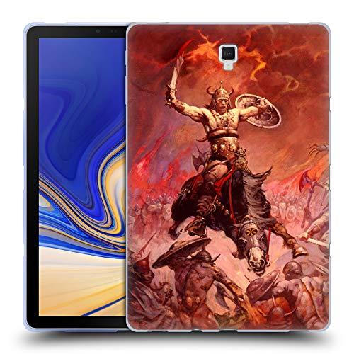 (Official Frank Frazetta The Berserker Medieval Fantasy 2 Soft Gel Case for Samsung Galaxy Tab S4 10.5 (2018) )