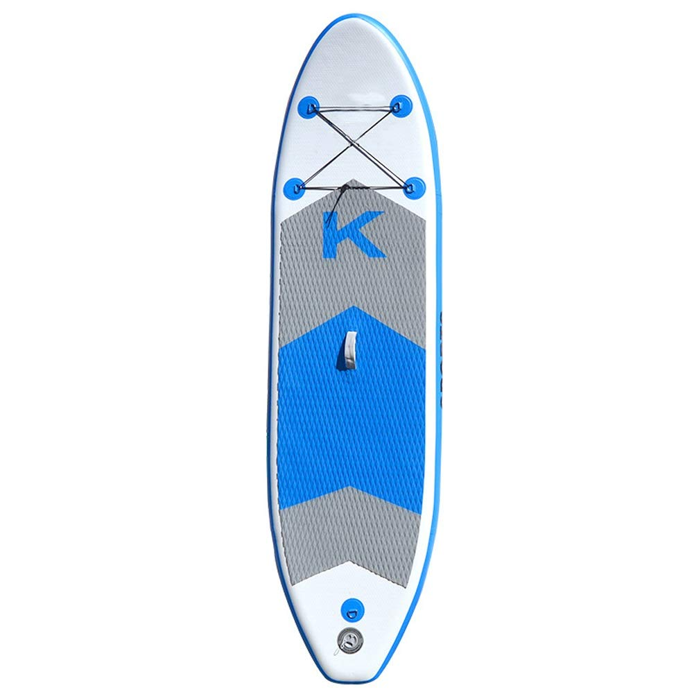 ヨガの練習、サーフィンのための膨脹可能なSUPサーフボード大人立ちパドル (Color : 青) 青