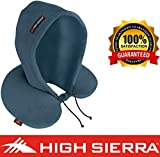 High Sierra HS1369 \ Hoodie Travel Pillow \ Block Out Light \ Sleep Deeper on Flights & Road Trips \ 100% Pure Memory Foam \ Relieves Painful Pressure Points \ Provides Exceptional Neck Support Teal
