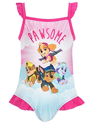 [Paw Patrol Girls' Paw Patrol Swimsuit 4] (Paw Patrol Costumes Skye)