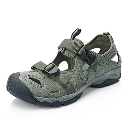 6d10ff721f6d Clorts Men s Closed-Toe Hiking Sandal Outdoor Sport Fisherman Athletic  Water Sandal SD206 80%