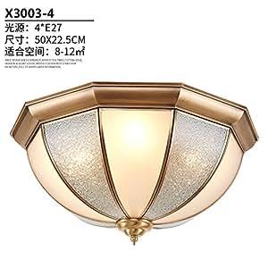 PinWei@ Brass ceiling lights, glass ceiling lights,50*23cm