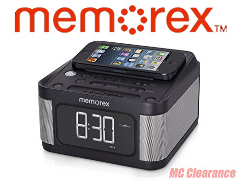 (Memorex Alarm Clock Jumbo 1.2' LCD Display Full-Range speakers with FM radio with Dual 2x USB Charging + Aux line-in connection (Renewed))