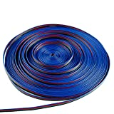 65.6 ft 4 Color 22 AWG RGB Extension Cable Line for LED Strip RGB 5050 3528 Cord 4pin wire