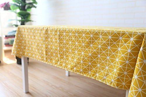 meioro Manteles Mantel Rectangular Cubierta de Mesa de Lino de algodón Manteles de Sarga Simples Adecuado para la decoración de cocinas caseras, ...