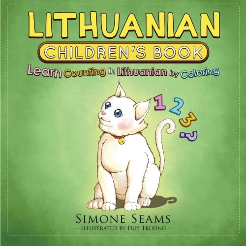 Lithuanian Children's Book: Learn Counting in Lithuanian by Coloring