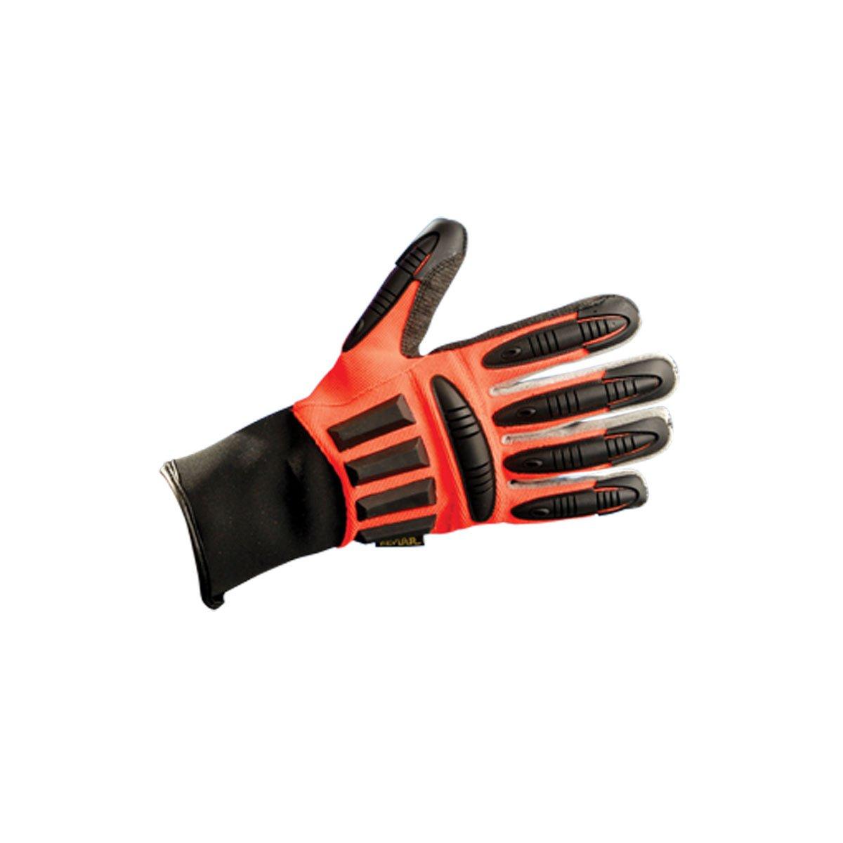 Occunomix G478-016 Premium Refinery Gloves, Size 2X, Orange/Black