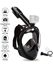 VILISUN Tauchmaske, Vollmaske Schnorchelmaske Vollgesichtsmaske mit 180° Sichtfeld, müheloses Atmen, Dichtung aus Silikon Anti-Fog und Anti-Leck Technologie für Alle Erwachsene und Kinder