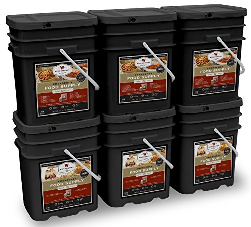 Wise Company Long Term Emergency Food Supply, Breakfast and Entree Variety,  Six-120 Serving Buckets (720 Total Servings)
